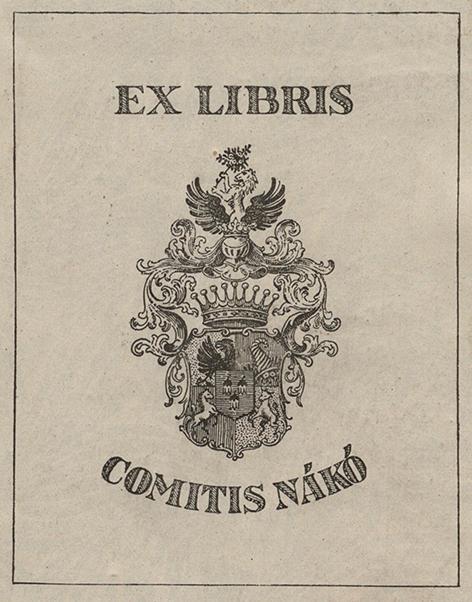 """Figure 5 Ex-libris """" Comitis Nákó """". Gustav Pauli, Max Liebermann : des Meisters Gemälde in 304 Abbildungen, Stuttgart and Leipzig, 1911, Paris, INHA library, BCMN collection, 4 D 0229 (19)."""