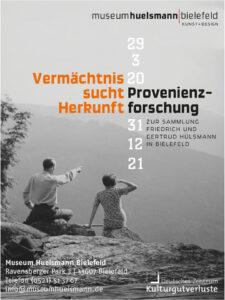 »Vermächtnis sucht Herkunft« – Provenienzforschung zur Sammlung Friedrich und Gertrud Hülsmann in Bielefeld.   17.05.2020   bis   31.12.2021  