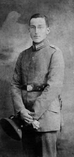 Ernst Mühsam in uniform, undated.