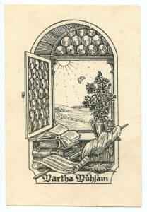 Exlibris Martha Mühsam