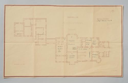 (Abb. 5) Plan von Steinbach, 1.11.1939, Quelle: Kunsthistorisches Museum Wien, Archiv, XI 2405_1. © KHM-Museumsverband