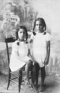 Silvia and Elsa Moreschi, undated